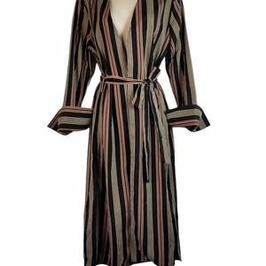 NWT Favlux striped Duster belted L